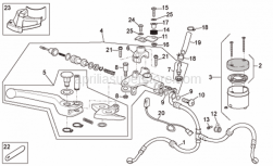 Frame - Front Master Cilinder - Aprilia - Cap screw