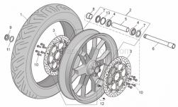 Frame - Front Wheel Factory - Aprilia - Front/rear tyre 120/70 ZR 17 Pirelli