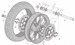 Frame - Front Wheel Factory - Aprilia - Front RH wheel, outerspacer