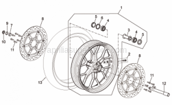 Frame - Front Wheel R Version - Aprilia - Front brake disc