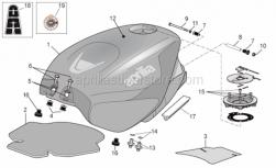Frame - Fuel Tank - Aprilia - DEC.PROTEZIONE SERBATOIO
