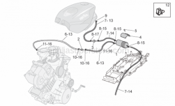 Frame - Fuel Vapour Recover System - Aprilia - Screw w/ flange M6x20