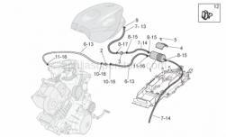Frame - Fuel Vapour Recover System - Aprilia - White hose clip d.13x6