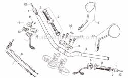 Frame - Handlebar - Controls - Aprilia - Rear gas lever U-bolt