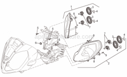 Frame - Headlight - Aprilia - Rubber spacer