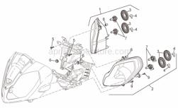 Frame - Headlight - Aprilia - Rubber w/ insert *