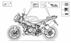 Frame - Plate Set-Decal-Op.Handbooks - Aprilia - Constructor dataplate