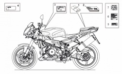 Frame - Plate Set-Decal-Op.Handbooks - Aprilia - Carbon filter sticker