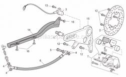 Frame - Rear Brake Caliper - Aprilia - Screw w/ flange M8x20