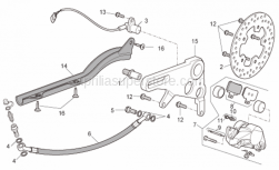 Frame - Rear Brake Caliper - Aprilia - Screw w/ flange M6x20