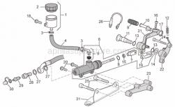 Frame - Rear Master Cylinder - Aprilia - clutch switch