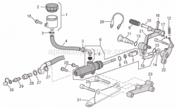 Frame - Rear Master Cylinder - Aprilia - Bored screw