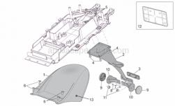 Frame - Rear Mudguard - Aprilia - Rear reflector