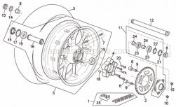 Frame - Rear Wheel R Version - Aprilia - Crown holder cpl.