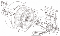 Frame - Rear Wheel R Version - Aprilia - Inside circlip d55