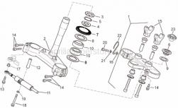 Frame - Steering - Aprilia - Brake tube cable guide