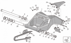 Frame - Swing Arm - Aprilia - LH chain guide plate