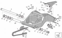 Frame - Swing Arm - Aprilia - Screw w/ flange M5x12