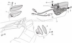 Frame - Taillight - Aprilia - Rubber w/ insert *