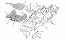 Frame - Undersaddle - Aprilia - Support rubber part