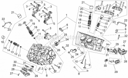 Engine - Cylinder Head - Valves - Aprilia - Cylinder head assy.
