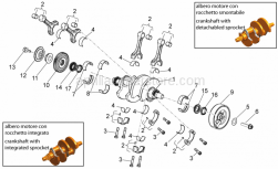 Engine - Drive Shaft - Aprilia - Screw w/ flange M12X1,25X50