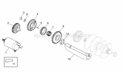 Engine - Ignition Unit - Aprilia - Flanged nut M10x1