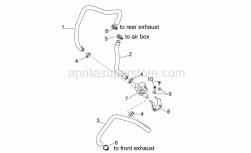 Engine - Secondary Air - Aprilia - pipe