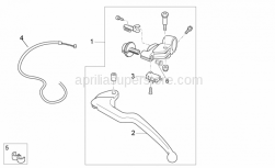 Frame - Clutch Lever - Aprilia - THREADED BUSH