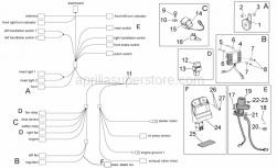 Frame - Electrical System I - Aprilia - Rubber sensor support