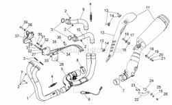 Frame - Exhaust Pipe I - Aprilia - RH rear exhaust pipe