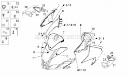 Frame - Front Body I - Aprilia - Rubber spacer