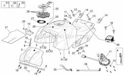 Frame - Fuel Tank - Aprilia - Screw w/ flange
