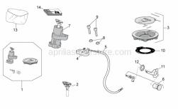 Frame - Lock Hardware Kit - Aprilia - Aprilia key with transpo.