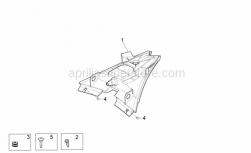 Frame - Taillight - Aprilia - Rubber spacer