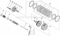 Engine - Clutch I - Aprilia - Clutch relese shaft