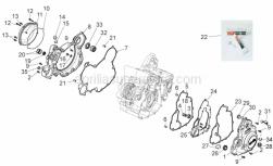 Engine - Crankcase II - Aprilia - Screw w/ flange M6x25
