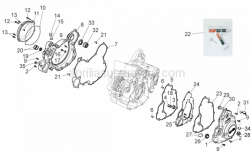 Engine - Crankcase II - Aprilia - Screw w/ flange M6x20