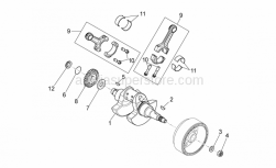Engine - Drive Shaft - Aprilia - Transmission key 4x6,5