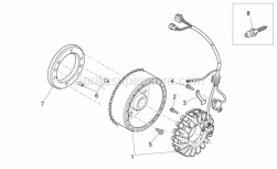 Engine - Ignition Unit - Aprilia - Flywheel cpl.