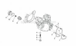Engine - Lubrication - Aprilia - Exhaust valve spring