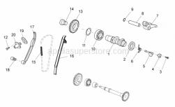 Engine - Rear Cylinder Timing System - Aprilia - Rear Decompression counterweight