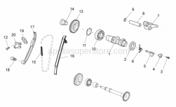 Engine - Rear Cylinder Timing System - Aprilia - Complete chain tensioner