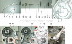 Engine - Starter Assembly - Aprilia - Screw w/ flange M6x12