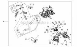 Engine - Throttle Body - Aprilia - Spacer