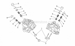 Engine - Valves - Aprilia - Lower cup