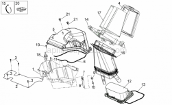 Frame - Air Box - Aprilia - Filter box Cover
