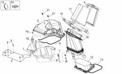 Frame - Air Box - Aprilia - Air filter box