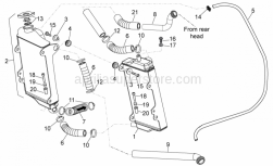 Frame - Cooling System - Aprilia - LH COOLING PIPE