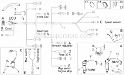 Frame - Electrical System - Aprilia - CABLE HARNESS